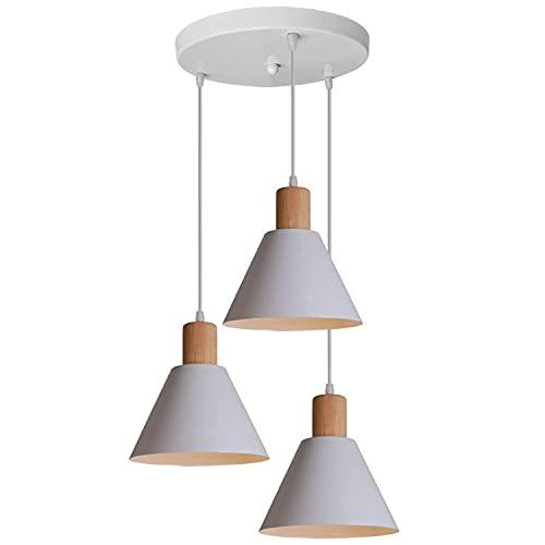 Sala de Estar de Lujo Moderna Barra de Luces del Macaron Tres Cabezas de la lámpara de luz Contadores Dormitorio Lámparas Ajustables de Aluminio de Cocina nórdica (Color : Threeheaded Disc)