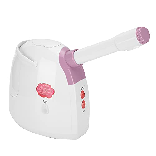 Vapeurs pour le Visage, Machine à Vapeur pour le Visage à Vapeur Chaude + Froide + Tiède, Humidificateur Facial Rotatif à 360 ° pour Sauna Domestique, Humidificateur D'aromathérapie (220V)