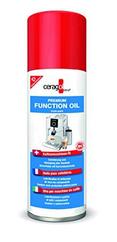 ceragol ultra Premium Function Oil – lebensmittelechtes Schmier-Öl für Kaffee-Maschinen und andere Haushalts-Geräte, Schmier-Mittel zum Lösen festsitzender Teile, 200 ml