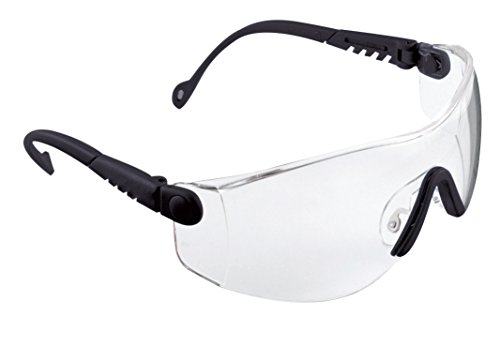 Honeywell 1000016 Op-Tema Safety Eyewear Frame with Clear Anti-Scratch Lens - Black