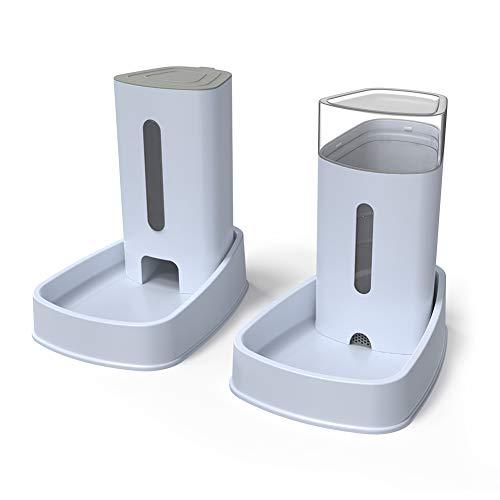 YGJT Distributeur croquettes/Eau Fontaine Automatique-3.8Lx 2 Pièces- Alimentation pour Chien/Chat/Croquettes Accesoires Gamelle Animaux Domestiques