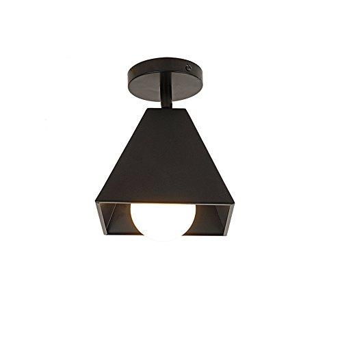 Lámpara de techo LED moderna de color negro para restaurante, cafetería, bar, decoración de bombillas sin bombilla1-llama