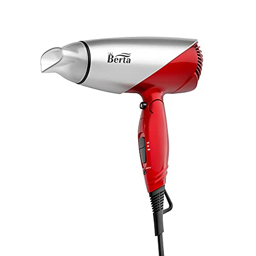 Ionic Compact Hair Dryer with Folding Handle Dual Voltage Travel Blow Dryer 1875W Professional Lightweight Ceramic Folding Hairdryer with Concentrator