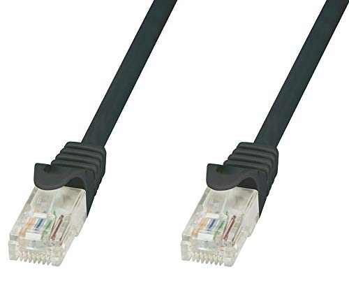 TECHLY icoc U6 – 6u-005-bkt 0,5 m CAT6 U/UTP (UTP) zwart netwerk kabel – netwerk kabel (0,5 m, 802.11 RJ-45, U/UTP (UTP), mannelijk)