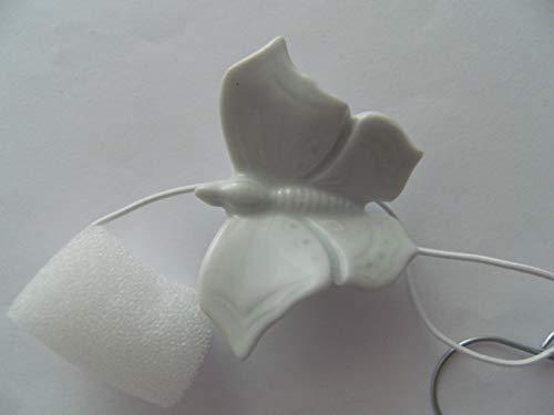 Lindner Porzellan Tropfenfänger Schmetterling, weiß, für Kaffee- oder Teekannen, Tier Falter