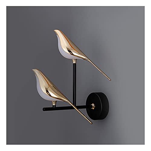 A-ZHP Lámpara de Pared, Simple y Creative Bird Sala de Estar TV Fondo de Pared Luz de Lujo Dormitorio de Lujo Lámpara de Noche (Color : B)
