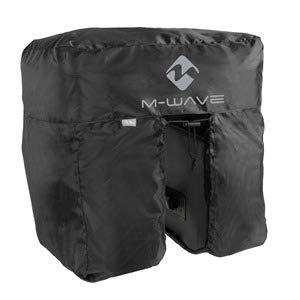 P4B | Regenschutzhaube für Fahrradgepäck | Fahrrad Gepäcktaschenüberzug | Universal 2-/3-fach Packtasche | Schwarz