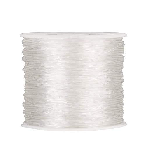 Dehnschnur für Perlenarbeiten, 0,5/0,6/0,8/1,0 mm, elastisch, transparent, rund, Perlendraht, Schnur, Faden, Schmuckherstellung, durchsichtig, 0.6MM x 100Meters