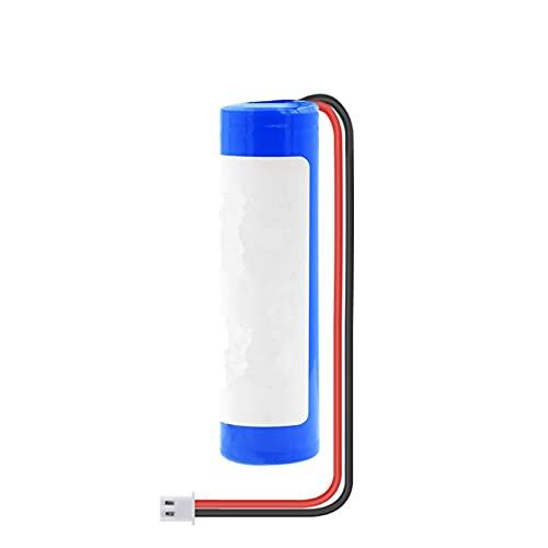 RitzyRose Batería de iones de litio de 3,7 V, 3000 mAh, 18650, paquete de baterías recargables con enchufe de 2 pines Xh 2,54 mm para banco de alimentación DIY