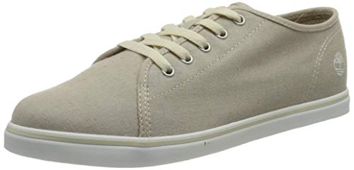 Timberland Dausette Oxford, Sneakers Basse Donna, Beige Natural Canvas, 38 EU