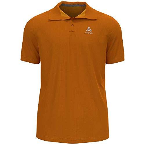 Odlo Herren Polo Shirt s/s F-Dry, Marmalade, XL