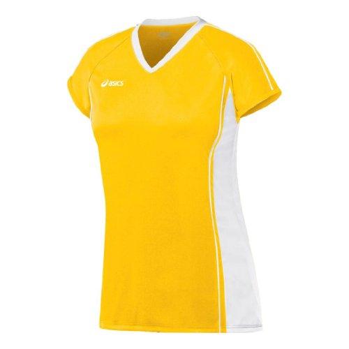 Camiseta de voleibol Replay Asics para mujeres - BT1003.0401 (Dorado / Blanco...
