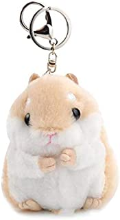 TREGIA I Cute Hamster Plush Keychain Toy Cartoon Animal Small Doll Key Chain Pendant Stuffed Mouse Kids Toy Holiday Must Haves Baby Boy Gifts The Favourite DVD Superhero Party Favors UNbox Game