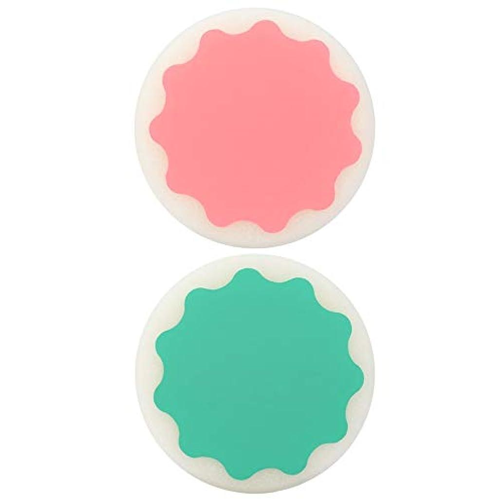 存在簿記係ブロッサム痛みのない脱毛脱毛スポンジ両面パッドラウンドシェイプワックスポリッシングフェイスアームレッグ脱毛ツール(Color:Green & Pink & Yellow)