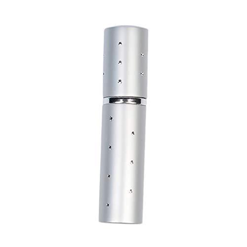 Flacon 5ML Parfum Portable Pompes Voyage Parfum Refillable Atomiseur Vaporisateur (Color : Silver)