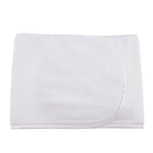 Sharplace Bandeau de Cheveux Serviette Molle pour Salon Facial Maquillage Bain en Coton - Blanc