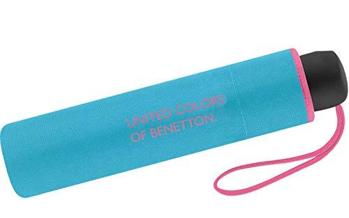 United Colors of Benetton Paragua clásico Azul Azul Caribe 95 cm