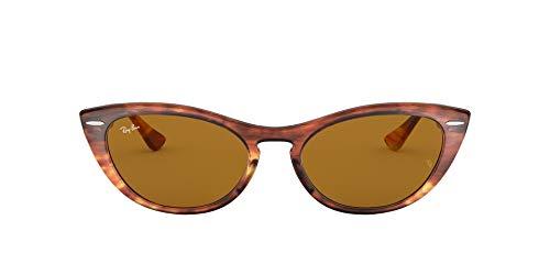 Ray-Ban 0RB4314N Occhiali da Sole, Marrone (Striped Brown), 53 Donna