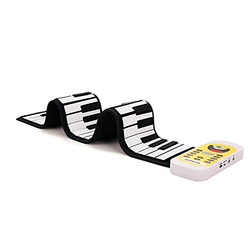 Great Features Of DEPRQ Portable Foldable Roll Up Piano Hand Roll Piano Portable Folding 49-Key Rain...