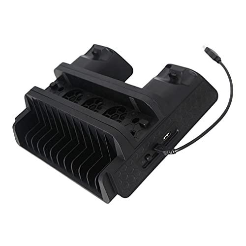 Controlador Cargador Dock Air Cooler Soporte de juego compatible con PS4 Slim/Pro