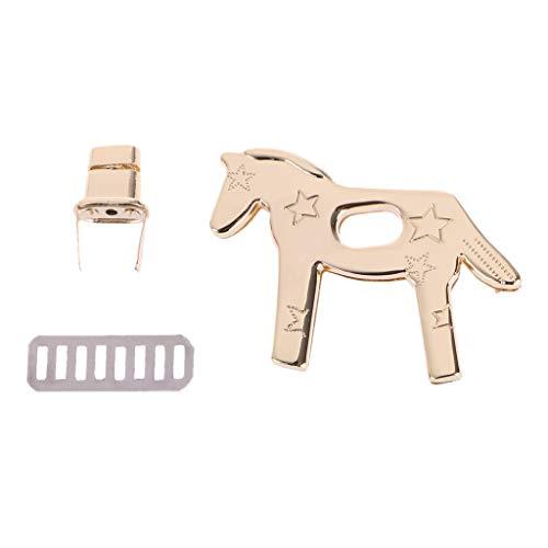 SimpleLife handtas Twist Turn Lock paardvorm metalen sluiting DIY handtas tas hardware accessoires, 6,56x4,81 cm