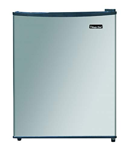Magic Chef MCAR240SE2 Energy Star Stainless Steel Door 2.4 Cu. Ft. Mini All-Refrigerator, Silver