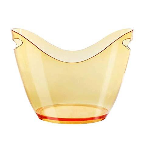 Cubo de Hielo para el Hogar / Bar Cubo de hielo, cubo de hielo plástico, acrílico cubo de hielo, cubo de hielo sin cubierta, de plástico transparente de acrílico Lingote cubo de hielo Champagne Compar