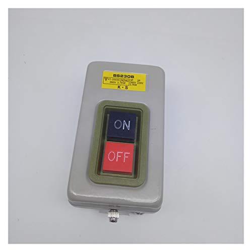 GUODONG MAYE2021 Botón de Control de Potencia Interruptor Botón de Arranque del Motor trifásico y presione Switch BS211B / 216B / 230B 1.5/2.2/3.7kw (Color : BS230B)