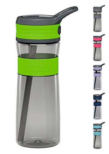 boddels Trinkflasche EEN 600ml - Deine Wasserflasche für jeden Tag ( Apfelgrün / Grau )