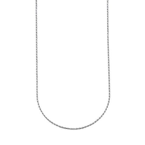 ChainsPro Collares Corda 24 Pulgadas para Cuello Cadenas SOGA 1.3mm Plata de Ley 925 Joyería de Moda Minimalista para Mejores Amigos
