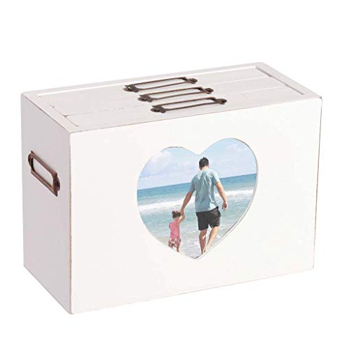 Dibor - Álbum de Fotos de Madera, 6 x 10 cm, con Marco Frontal de corazón