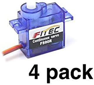 Feetech FS90R Continuous Rotation 9g Micro Servo (4 pack)
