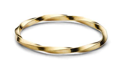 JUKSEREI Damen Ring Ember Gold - Dünner Damenring Silber 925 vergoldet - JUK-RCH404g-54