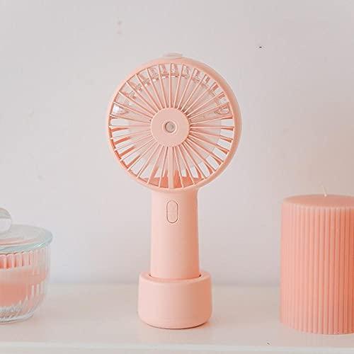 Ventilador humidificador USB de mano de escritorio 3 velocidades enfriador recargable aire agua nebulización ventilador de pulverización-2500mah_pink