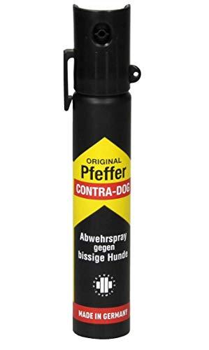 TW1000 Unisex– Erwachsene Pfeffer Contra-Dog Top-Hit mit Clip Pfefferspray, farblos, 91mm