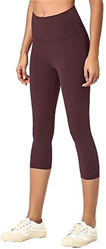 HIAO Pantalones De La Aptitud De Las Mujeres De Doble Cara De Pantalones De Yoga Mujer Cepillado Alta De La Cintura Siete Puntos De Fitness Pantalones de Fitness para Mujer
