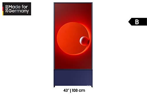 Samsung QLED 4K The Sero 43 Zoll (GQ43LS05TAUXZG) Rotierender Bildschirm, 4.1-Kanal-Soundsystem, AI Upscaling