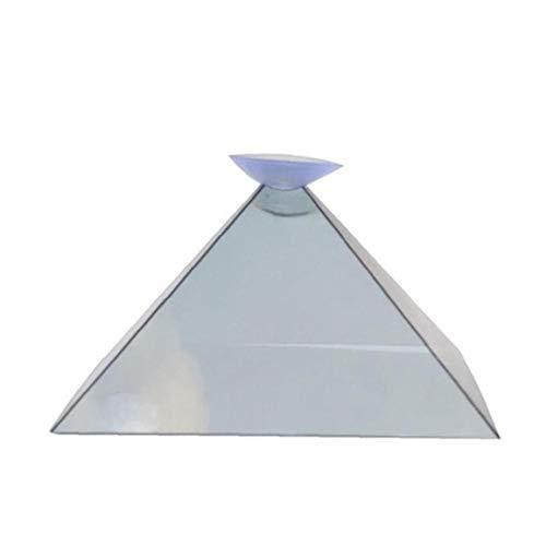 LAVALINK 2 Pc-projektor 3D-Pyramide Video Hologram Anzeige Projektor Video Ständer Universal Mini Durable Tragbare Projektoren Für Handy