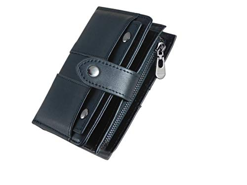 DiRoHu |Geldbörse | Hochwertiges Leder | RFID & NFC Datenschutz | Damen & Herren |Herausnehmbarer Kartenhalter | 13 Kartenfächer | Schwarz