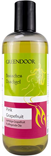 500ml Greendoor Basisches Natur Duschgel Pink Grapefruit, biologisch abbaubar, Natur für die Haut aus Bio Kokosöl, frisch fruchtig herb, OHNE Silikon Sulfate Parabene, outdoor geeignet, natural