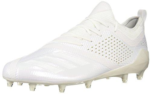 adidas Men's Adizero 5-Star 7.0 Football Shoe, White/White/Gold Metallic, 18 M US