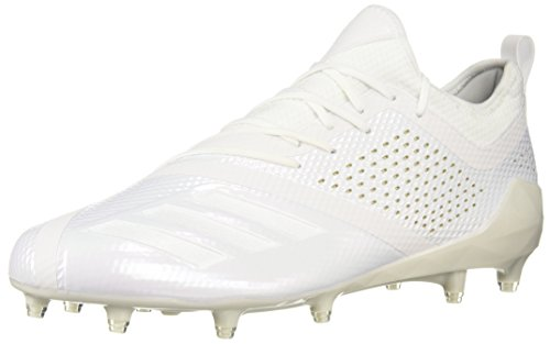 adidas Men's Adizero 5-Star 7.0 Football Shoe, White/White/Gold Metallic, 15 M US