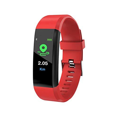YNLRY Plus Smart Pulsera Pulsera de presión arterial Reloj inteligente con correa Fitness Monitor de ritmo cardíaco 115Plus Tracker Smartwatch (Color: Colorido)