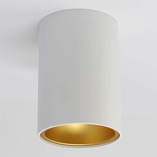 Aufbauleuchte Aufbaustrahler Aufputz SUNNY GU10 Fassung 230V Deckenleuchte Strahler Deckenlampe Würfelleuchte Kronleuchter aus Aluminium Spot - ohne Leuchtmittel (weiss/gold)