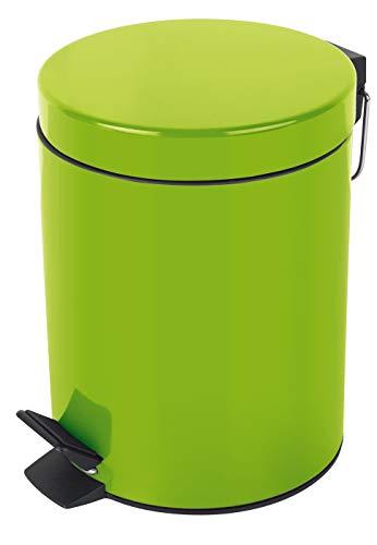 Spirella Kosmetikeimer Sydney Grün Mülleimer Treteimer Abfalleimer - 5 Liter – mit herausnehmbaren Inneneimer