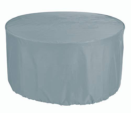 HBCOLLECTION Housse pour Table de Jardin Ronde 128cm Polyester Coloris Gris