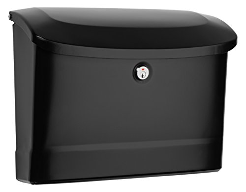 Architectural Mailboxes 2572B-10 Princeton Locking Wall Mount Mailbox, Medium, Black