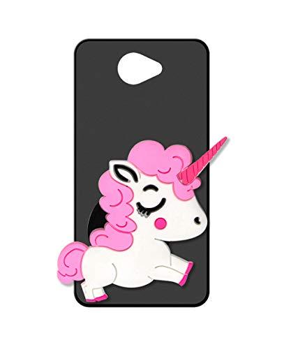 Sunrive Cover per Samsung Galaxy A5 (2016), Custodia in Molle Ultra Slim Matte Silicone Morbida Protector Back Case Protettiva Kickstand(Unicorno Rosa)