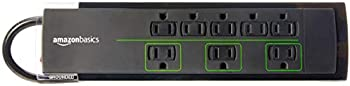 AmazonBasics 4,500 Joule, 6-Foot Cord 8-Outlet Power Strip Surge Protector