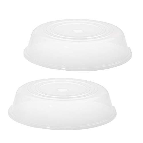 Westmark Mikrowellen-Teller-Abdeckhauben, 2 Stück, Durchmesser: 25 cm, Kunststoff, Transparent, 224522E3